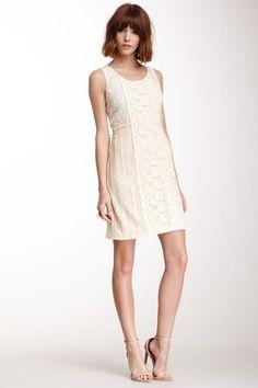 Alternating Knit Design Dress