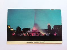 Vintage Buckingham Fountain Chicago IL Postcard Posted 1969 Curteichcolor