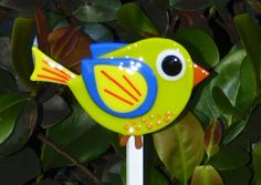 Garden Stakes by FusedGlassMenagerie on Etsy