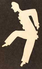 H C Andersen papirklip - dansende Pjerrot fra Det Kgl. Bibliotek