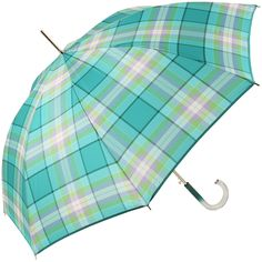 Cote Automatic Walking Length Umbrella by Rainbow of Milan - Kingfisher - Brolliesgalore