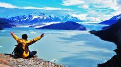 Torres del Paine , mirador glaciar Grey , NATIONAL PARK , CHILE