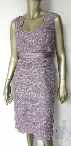 NEW JACQUES VERT PURPLE LILAC SWEETHEART LACE LAYERED DRESS WEDDING 10 to 22 Purple Lilac, Office Wear, Dress Wedding, Cocktail Dresses, Floral Lace, Sparkle, Clothes For Women, Formal Dresses, How To Wear