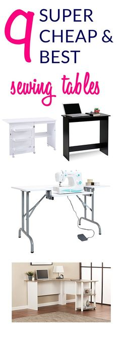Here are some amazing cutting table ideas for sewing rooms that are affordable as well | sewing cutting table | CHEAP SEWING tables | sewing machine tables | sewing tables | #sewing free sewing patterns