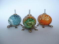 hand painted eggs turned into lamps, way cool