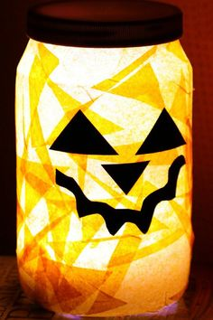 This is a simple Halloween night light that kids can make and then set beside their bed to keep the Halloween monsters away!