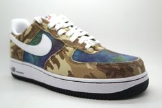 new arrival 1456d 36b81 NIKE AIR FORCE 1 07 LV CAMO GREEN WHITE BLACK 718152 300  130