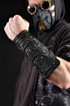 Mercenary male armguard