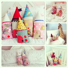 Decorative fairy tale castle pillows  www.etsy.com/people/youaremysunshop
