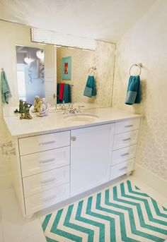 House of Turquoise: Dream Home Tour - Day Four - This would be a great cabinet for my bathroom remodel.