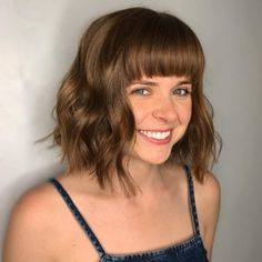 46 Completely Fashionable Bob Hairstyles With Bangs – Hair Styles Medium Bob With Bangs, Long Bob Haircut With Bangs, Cute Bob Haircuts, Asymmetrical Bob Haircuts, Blonde Bob Hairstyles, Bob Hairstyles For Fine Hair, Medium Bob Hairstyles, Wigs With Bangs, Haircuts With Bangs