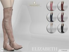 The Sims Resource: Madlen Elizabeth Boots by MJ95 • Sims 4 Downloads
