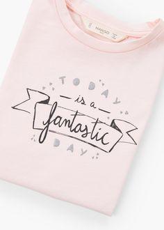 Camiseta algodón mensaje | MANGO KIDS