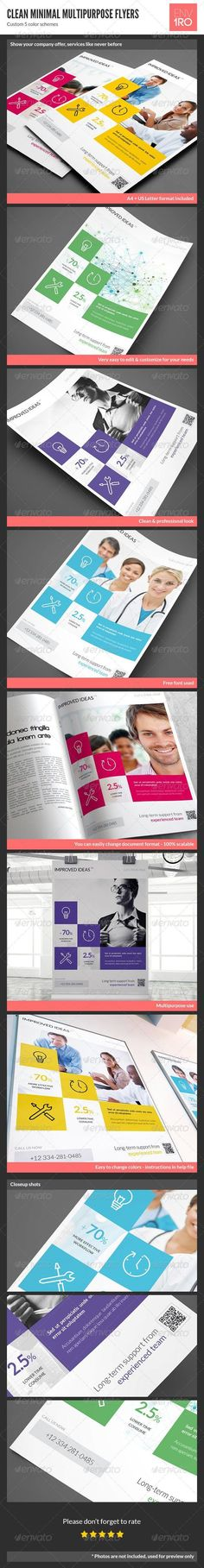 ◳ [Nulled]◰ Clean Minimal Multipurpose Flyers Vol. Supplemental Health Insurance, Health Insurance Companies, Business Company, Business Flyers, Promotion, Identity, Commercial Insurance, Business Flyer Templates, Information Graphics