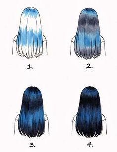 Germany Copic Blog: colorize Black hair