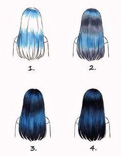 Copic Deutschland Blog: Schwarze Haare kolorieren