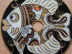 Картина панно рисунок День рождения Новый год Витраж Роспись Дискомания Диски компьютерные Краска фото 6
