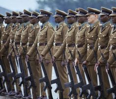 A white Rhodesian British South Africa Police officer stands on Parade among his peers on the Morris Depot Square- Mid Military Officer, Police Officer, Zimbabwe History, Grand Theft Auto Series, Comparative Politics, Army Quotes, Military Special Forces, History Online, All Nature