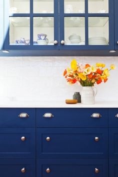 Pretty navy for furniture or cupboards