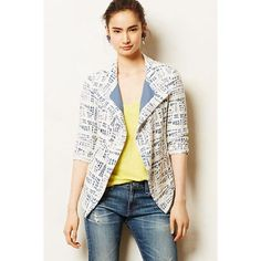 Hp Anthropologie Rinsed Indigo Cropped Jacket