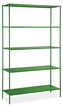 Slim Shelves in Green – Room & Board