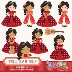 Princess Elena of Avalor, Clipart, Digital Paper, Girls, Tangled, Princess, Birthday, Gabz by GabzClipart on Etsy https://www.etsy.com/listing/478826287/princess-elena-of-avalor-clipart-digital