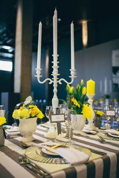 Modern Turbine Hall Wedding from Kikitography. Wedding Reception Decorations, Wedding Themes, Wedding Table, Wedding Blog, Wedding Photos, Wedding Ideas, Pantone, Turbine Hall, Flower Decorations