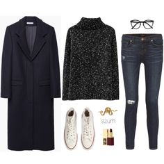 274 by szum on Polyvore featuring J.W. Anderson, J Brand, Converse, Zoe & Morgan, Selima Optique and Yves Saint Laurent