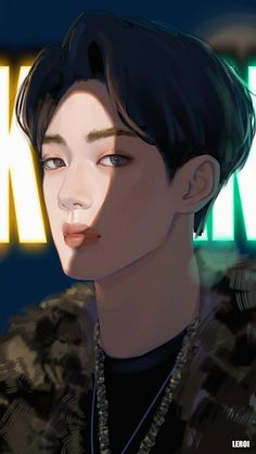 Fan art wanna one Ong Seung Woo, Cute Asian Guys, Boy Illustration, Guan Lin, Lai Guanlin, Kpop Fanart, Boy Art, Blue Aesthetic, 3 In One