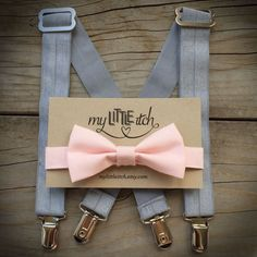 Light Pink Bow Tie With Silver Suspenders -Adjustable suspenders and bow tie -Suspenders made of elastic -Will fit newborns, infants, toddlers, or children -Great photography prop   10% of this purchase will be donated to support the research of ICP, a high risk pregnancy condition characterized by extreme itchiness, which increases the risk of stillbirth. Your support is greatly appreciated