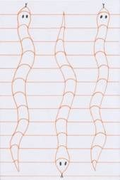 Tři hadi - op art