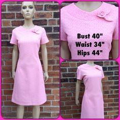 Cool 60s vintage Crimplene shift/scooter dress