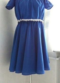 Kup mój przedmiot na #vintedpl http://www.vinted.pl/damska-odziez/krotkie-sukienki/18930812-szafirowy-komplet-spodnica-bluzka