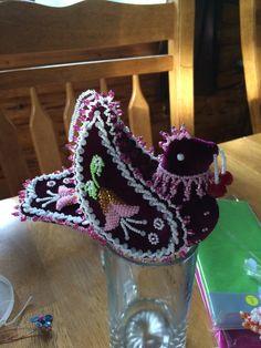 Raised beadwork bird by mary jacobs