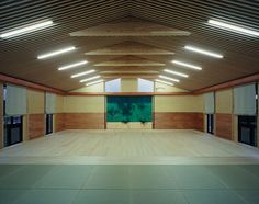 The inside of a beautifully designed home/aikido dojo. WANT!
