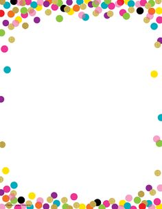 - Confetti Computer Paper, Create letters, invitations, and flyers with colorful computer paper! Compatible with copiers or inkjet and laser printers. Frame Border Design, Boarder Designs, Page Borders Design, Printable Border, Printable Labels, Boarders And Frames, Scrapbook Frames, Computer Paper, Binder Covers
