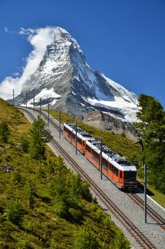 """Train in Switzerland"" ~ Glacier Express Switzerland"