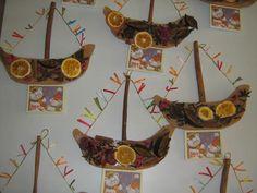χριστουγεννιάτικο καράβι Christmas Crafts For Kids, Holidays And Events, Calendar, Clock, Winter, Google, Ideas, Noel, Watch