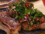Pan Seared Veal Chop with Rosemary