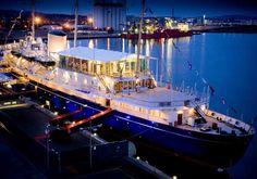 The Royal Yacht Britannia, docked in Edinburgh    For all the latest information on the Royal Yacht Britannia please visit the blog: http://blog.royalyachtbritannia.co.uk/