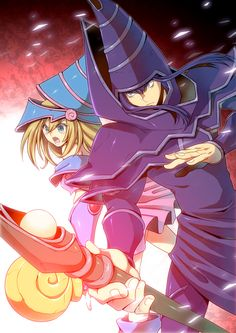 Yugioh - Dark Magician and Dark Magician Girl