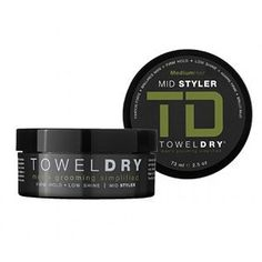 Towel Dry Mid Styler Paste - doesn't smell all that great, but the hold is excellent and is invisible once applied. Hair Styler, Men's Grooming, Alcohol Free, Medium Hair Styles, Towel, How To Apply, Magazines, Journals, Medium Length Hairdos