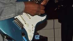 Bluesman Roy Roberts with his Fender Stratocaster  www.royrobertsblues.com Cassie J. Fox Photos 2014