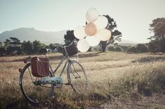 I want a bike, and I want balloons attached to it, and I want to ride it to this empty paddock, and then I want to pull a picnic out of the little satchel attached to it...