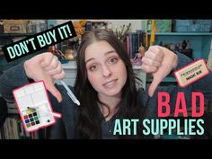ART SUPPLIES THAT AREN'T WORTH THE MONEY | REVIEWING BAD ART SUPPLIES!? - YouTube