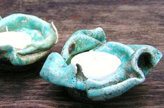 Ceramic Candle  Holders by RivkaPottery,  $16.00