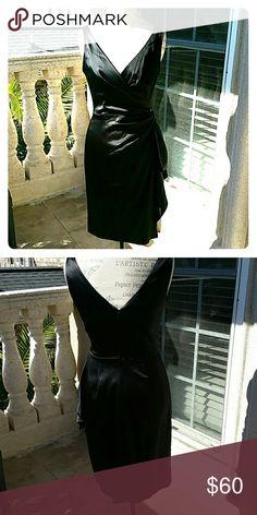 WHBM cocktail dress acetate,nylon and spandex Black White House Black Market Dresses Midi