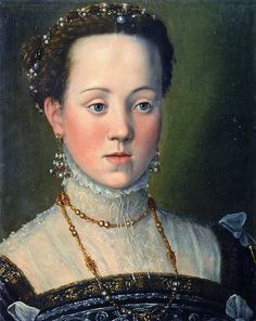 Portrait of Archduchess Anna, Daughter of Emperor Maximillian II, attributed to Giuseppe Arcimboldo