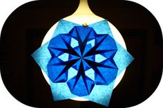 Morning Glory Window Star - putting the 6 parts together is quite tricky.