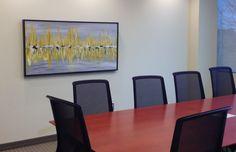 Boardroom artwork, painting by Soraya Silvertri. Ottawa artist, Canadian artist, abstract painter.